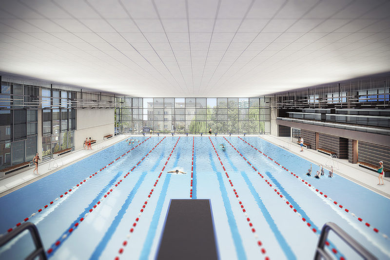 olympic swimming pool louis namche in molenbeek st jean - Olympic Swimming Pool 2014